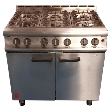 Used Falcon Dominator 6 Burner Gas Oven
