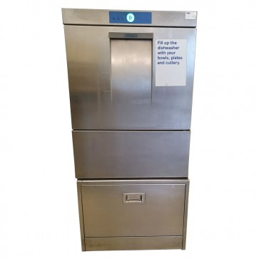 Used Hobart Dishwasher with Storage Stand