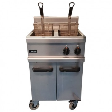 Used Lincat Twin Gas Fryer