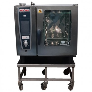 Used Rational 6 Grid White Efficiency SCC Combi Oven