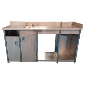 Used Commercial Kitchen Stainless Steel Table and Sink