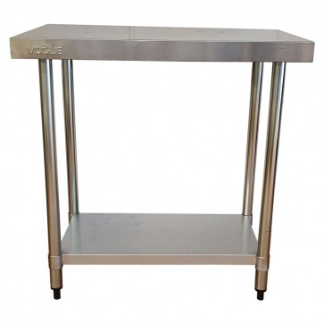 Used Stainless Steel Table with Bottom Shelf 90cm