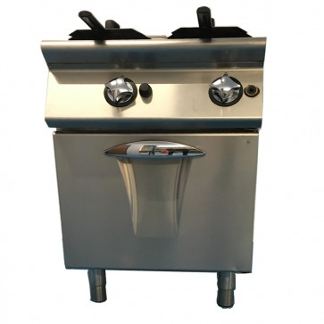 Used twin gas fryer
