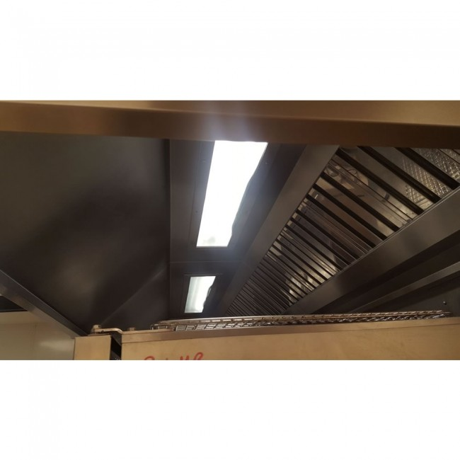 Commercial Extraction Ventilation Canopy with Lighting - Used Commercial Kitchen Canopy. Zoom  sc 1 st  Caterfair & Commercial Extraction Ventilation Canopy with Lighting - Used ...