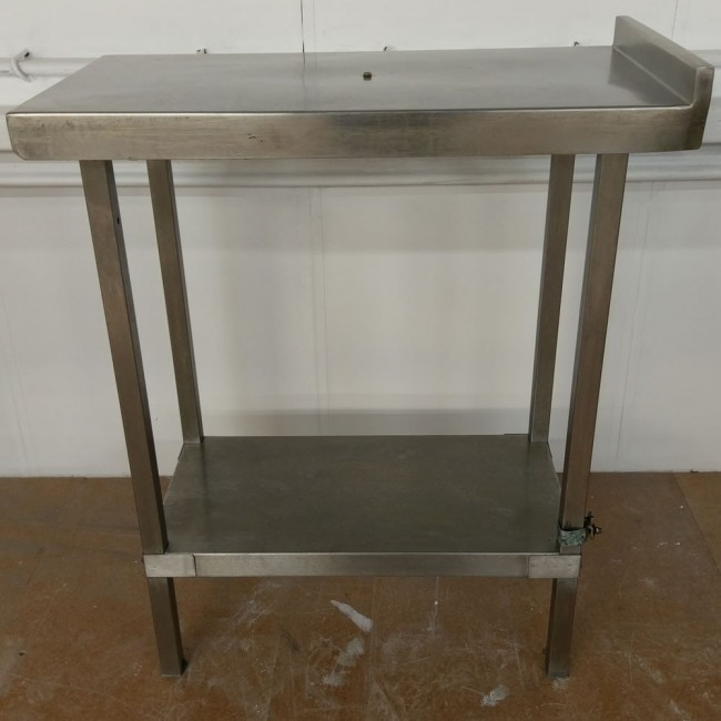 Used Narrow Commercial Stainless Steel Shelf And Table · Zoom