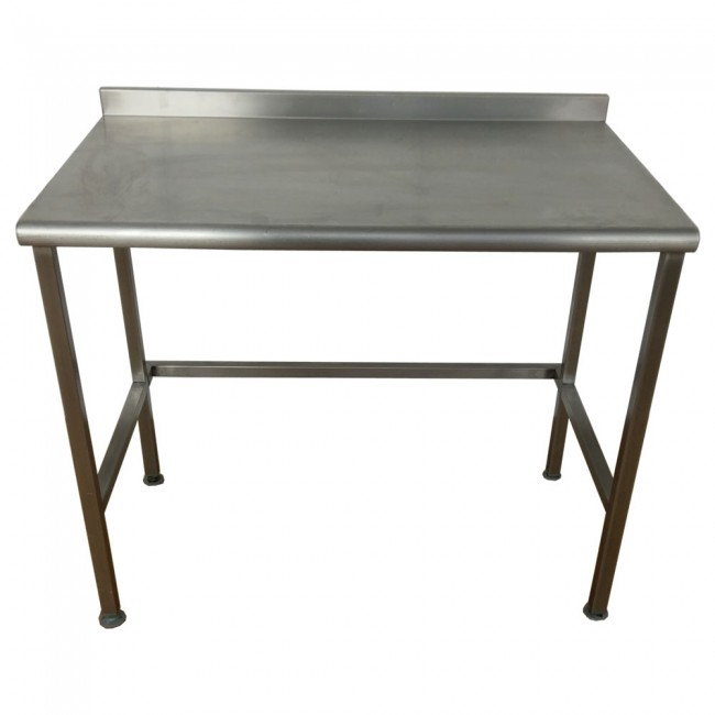 used stainless steel table and shelf unit. Black Bedroom Furniture Sets. Home Design Ideas