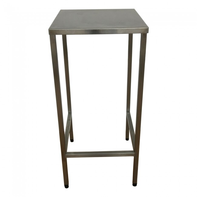 Used Tall Stainless Steel Table Stand - Tall stainless steel table