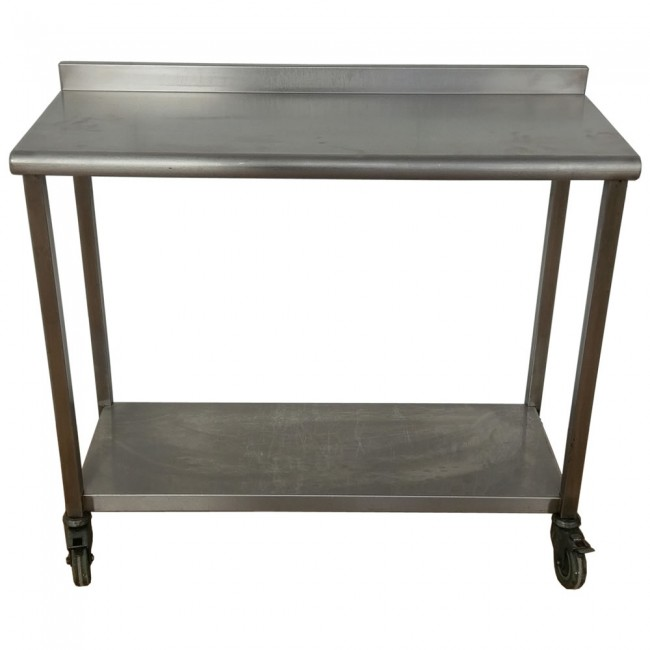 Used Stainless Steel Tables >> Used Stainless Steel Table And Shelf On Wheels