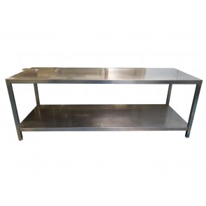 234cm STAINLESS STEEL TABLE WITH BOTTOM SHELF