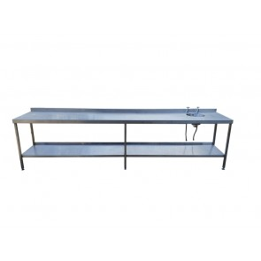 340CM STAINLESS STEEL TABLE WITH SINK