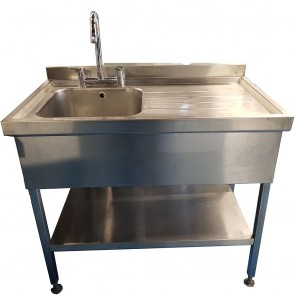 Stainless Steel Sink With Draining Board