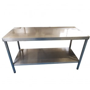 150CM Stainless Steel Table With Bottom Shelf