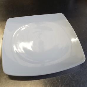 Medium Curved Square Ceramic Dining Plate