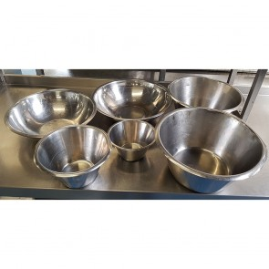 Set of 6 Stainless Steel Mixing Bowls