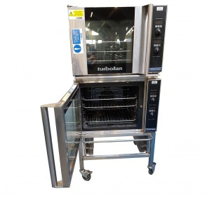 Blue Seal Double Turbofan Oven with Stand