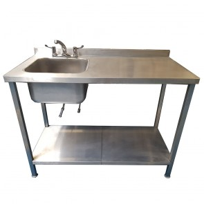 Stainless Steel Sink with Drain Space
