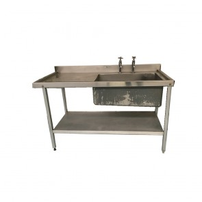 Used single base stainless steel sink