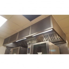 Commercial Extraction Ventilation Canopy with Lighting - Used Commercial Kitchen Canopy