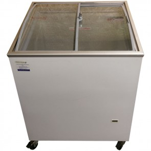 Tefcold IC200SCEB Sliding Curved and Angled Lid Chest Freezer