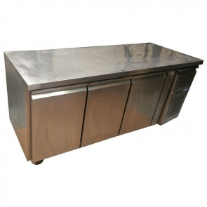 Polar 3 Door Refrigerated Prep Counter