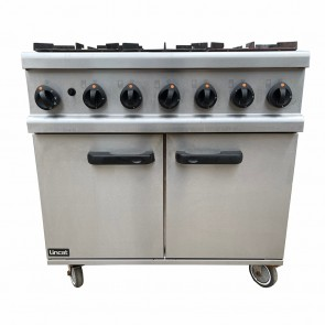 LINCAT 6-RING COOKER WITH OVEN NATURAL GAS
