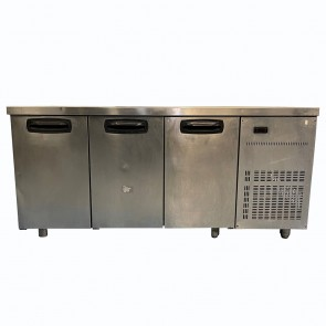 Inomak Commercial 3 Door Refrigerated Prep Counter