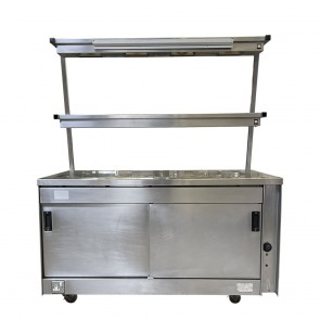 Mobile Hot-Cupboard with 2 Heated Gantry