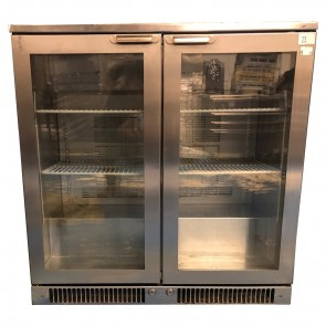 Under Counter Bottle Cooler 2 Door Hinged Stainless Steel Weald MR90H