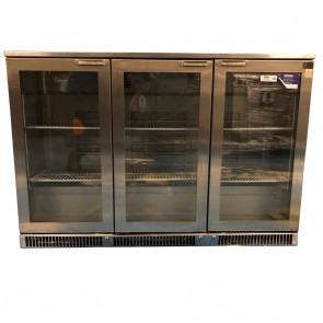 Under Counter Bottle Cooler Weald 3 Door Hinged Stainless Steel MR 135H