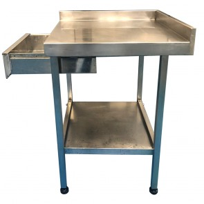 Stainless Steel Corner table L Shape draw 60 Wide
