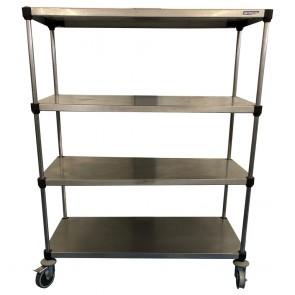 Stainless Steel Shelves on Wheels
