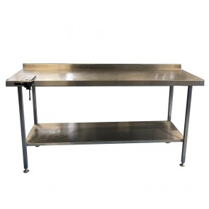 180 CM STAINLESS TABLE WITH BOTTOM SHELF