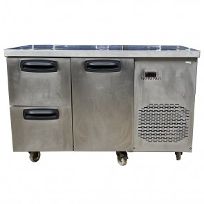 Single Door with 2 Drawer Undercounter Fridge Electric Single Phase