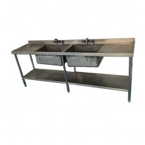 Used Large basing stainless steel sink