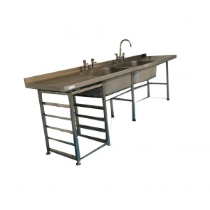 Used Large twin basing stainless steel sink