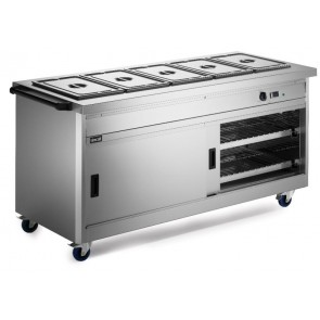 Lincat P8B5 Hot Cupboard With Bain Marie Top