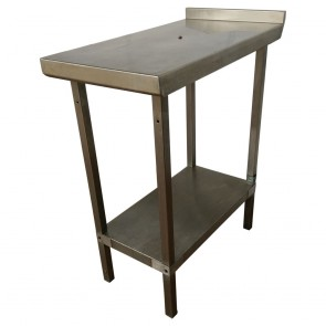 Used narrow commercial stainless steel shelf and table