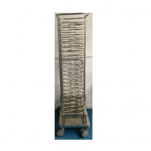 Used Rational mobile plate rack