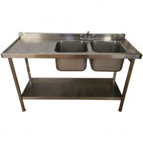 Stainless Steel Commercial Twin Basin Sink