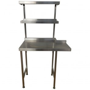 Stainless steel table and shelving