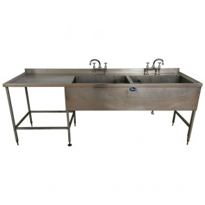 Used Stainless steel twin basin sink