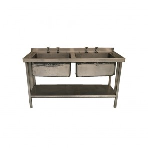 Used Twin basin stainless steel sink
