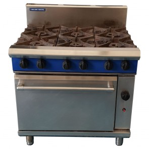 Used Blue Seal 6 Burner Oven
