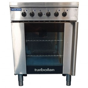 Used Blue Seal Turbofan Electric Convection Oven and 4 Element Cooktop