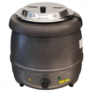 Used Buffalo G107 Graphite Grey Soup Kettle