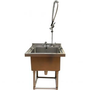 Used deep stainless steel sink with rinse aid
