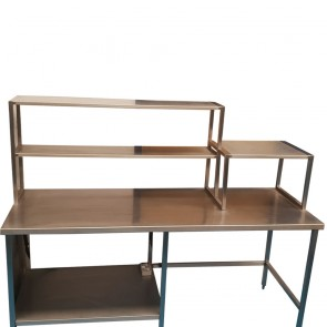 Used Stainless Steel Table and Shelves