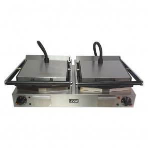 Used Lincat Twin Panini Grill Ribbed Plates