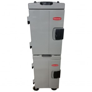 Used Rubbermaid Catermax 100 Insulated Food Storage Unit Platinum Pair