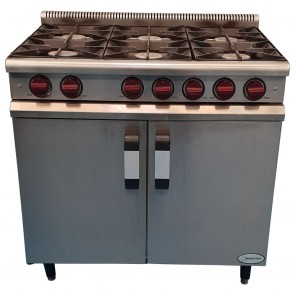Used Moorwood Vulcan 6 Burner - Gas